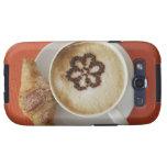 Cappuccino con el chocolate y un croissant, Italia Galaxy S3 Protectores