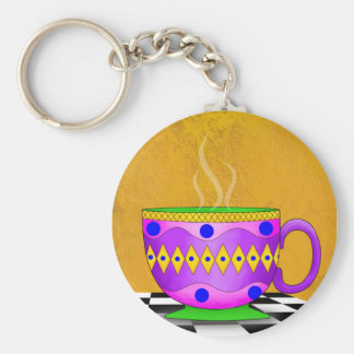 Cappuccino Cup Keychain