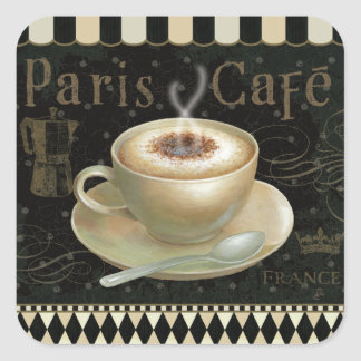 Cappuccino Cup Square Sticker