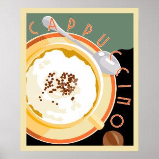 Cappuccino de Deco Póster