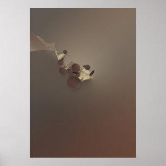Cappuccino del chocolate póster