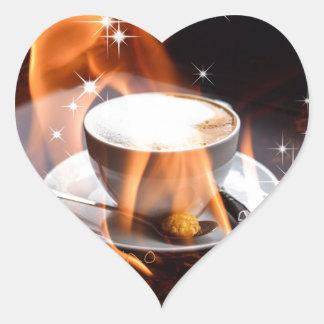 Cappuccino Dreams Heart Sticker