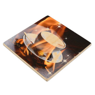 Cappuccino Dreams Wood Coaster