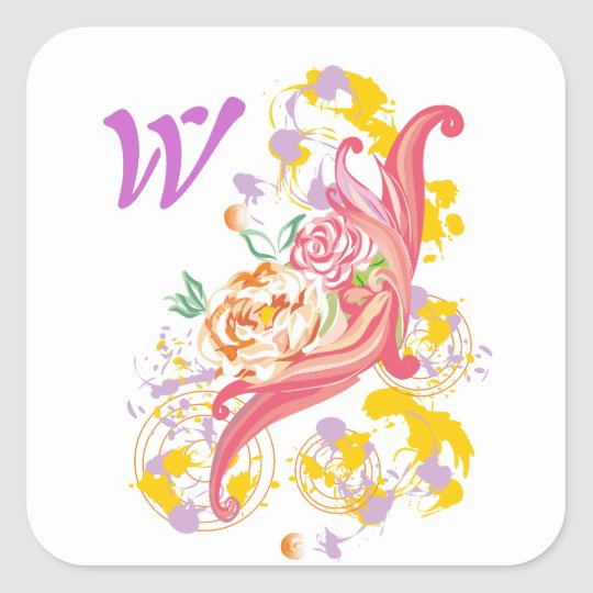 Cappuccino Flowers Sticker