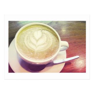 cappuccino heart postcard