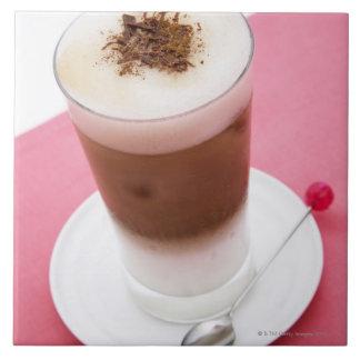 Cappuccino helado azulejo cuadrado grande