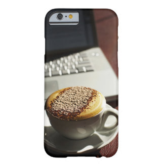 Cappuccino in front of laptop barely there iPhone 6 case