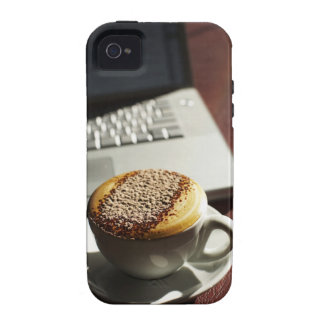 Cappuccino in front of laptop iPhone 4/4S cover