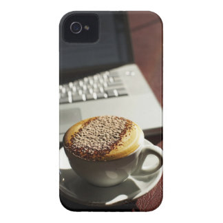 Cappuccino in front of laptop iPhone 4 cover