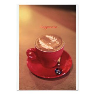 Cappuccino Invitación 12,7 X 17,8 Cm