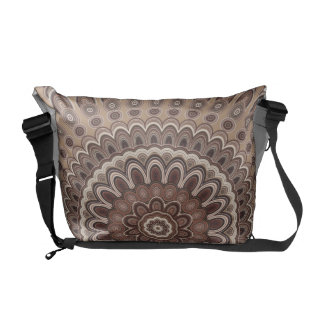 Cappuccino mandala courier bag