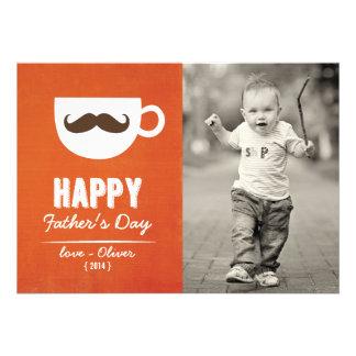 Cappuccino Mustache Happy Father s Day Card