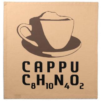 Cappuccino químico servilleta de papel