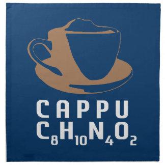 Cappuccino químico servilleta imprimida