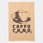 Cappuccino químico toalla de cocina