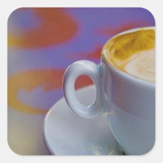 Cappuccino Square Sticker