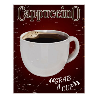 cappuccino vintage Poster