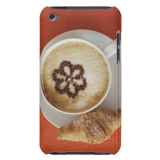 Cappuccino with chocolate and a croissant, Italy iPod Case-Mate Case