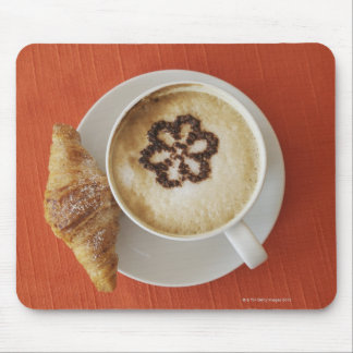 Cappuccino with chocolate and a croissant, Italy Mouse Pad