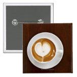 Cappuccino with love 2 inch square button
