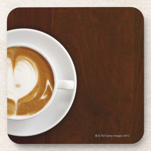 Cappuccino with love beverage coasters