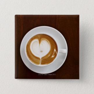 Cappuccino with love button