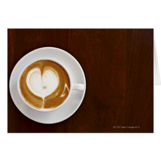 Cappuccino with love card