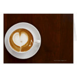 Cappuccino with love cards