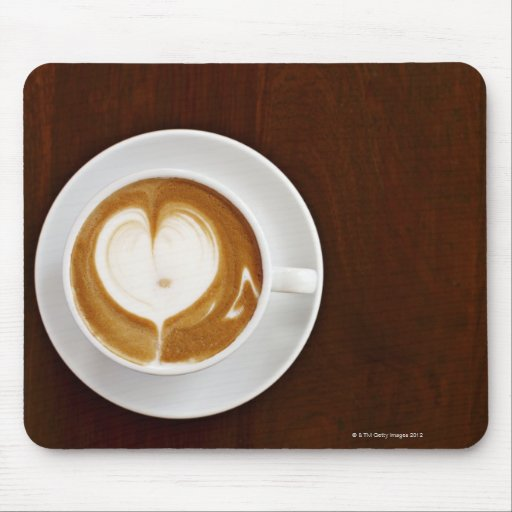 Cappuccino with love mouse pads