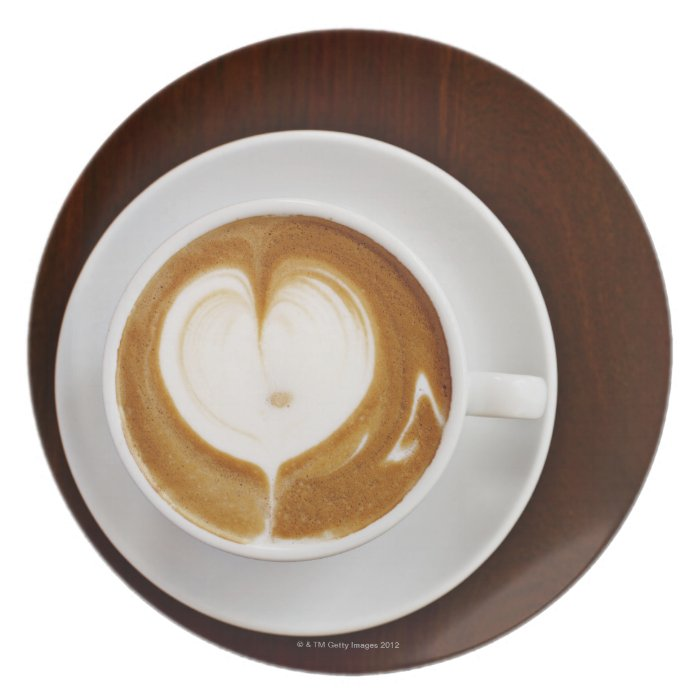 Cappuccino with love plate