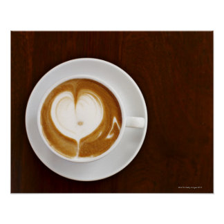 Cappuccino with love poster