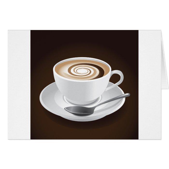 Cappuccino With Swirl Card