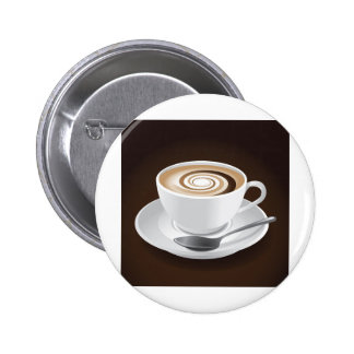 Cappuccino With Swirl Pinback Button