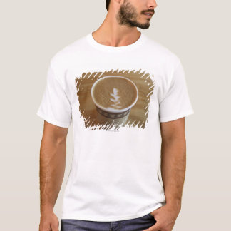 Cappuccino with tree design in foam T-Shirt