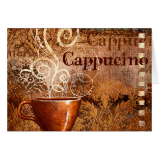 Cappucino Greeting Cards