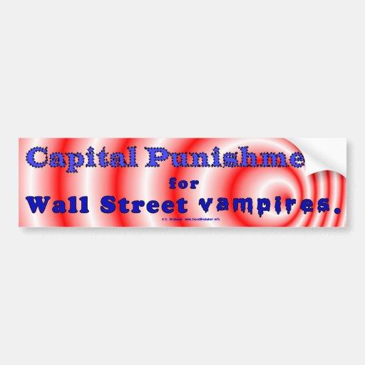 CapPunWallStVampires Bumper Sticker