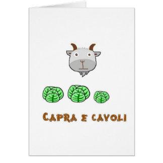 Capra e cavoli greeting cards
