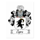 Capra Family Crest Post Cards
