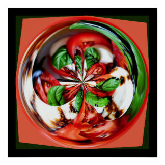 Caprese Salad Orb Poster