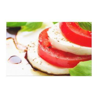Caprese Salad. Tomato and Mozzarella slices Canvas Print