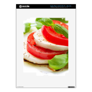 Caprese Salad. Tomato and Mozzarella slices iPad 3 Skin