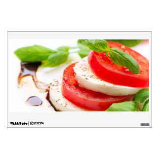 Caprese Salad. Tomato and Mozzarella slices Room Decals