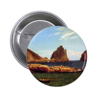 Capri - Albert Bierstadt Pinback Button