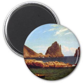 Capri - Albert Bierstadt Imán Redondo 5 Cm