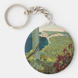 Capri Basic Round Button Keychain