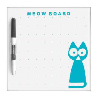 Capri blue Triangle Symbolic Cat Dry-Erase Board