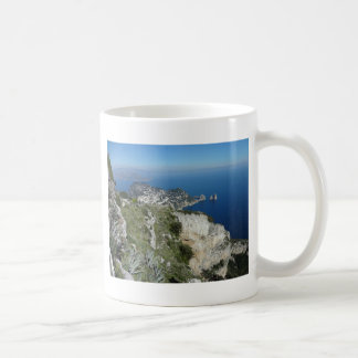Capri Faraglion Rocks Italy High View.JPG Coffee Mug