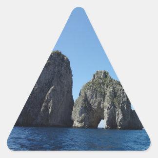 Capri Faraglion Rocks Italy Triangle Sticker