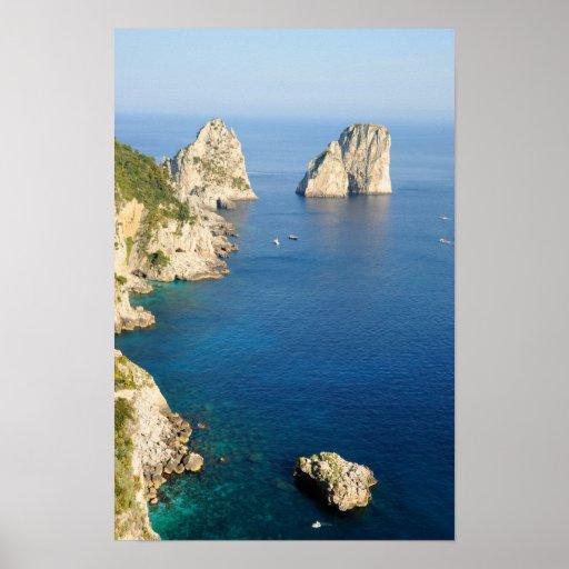 Capri island in Campania province, Italy Poster