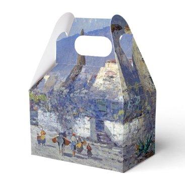 Capri Island Italy Flowers Blue Favor Box